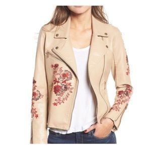 Blank NYC Embroidered Wildflower Moto Jacket XS